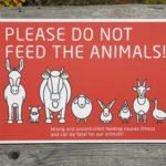 Merci de ne pas nourrir les animaux sauvages ou domestiques
