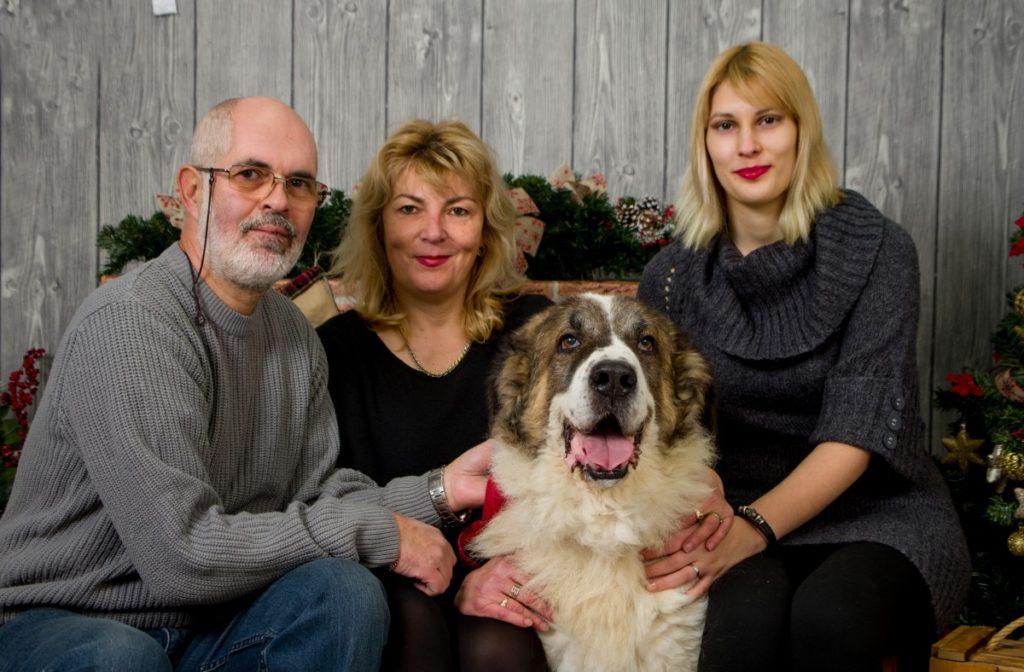 Famille et son chien
