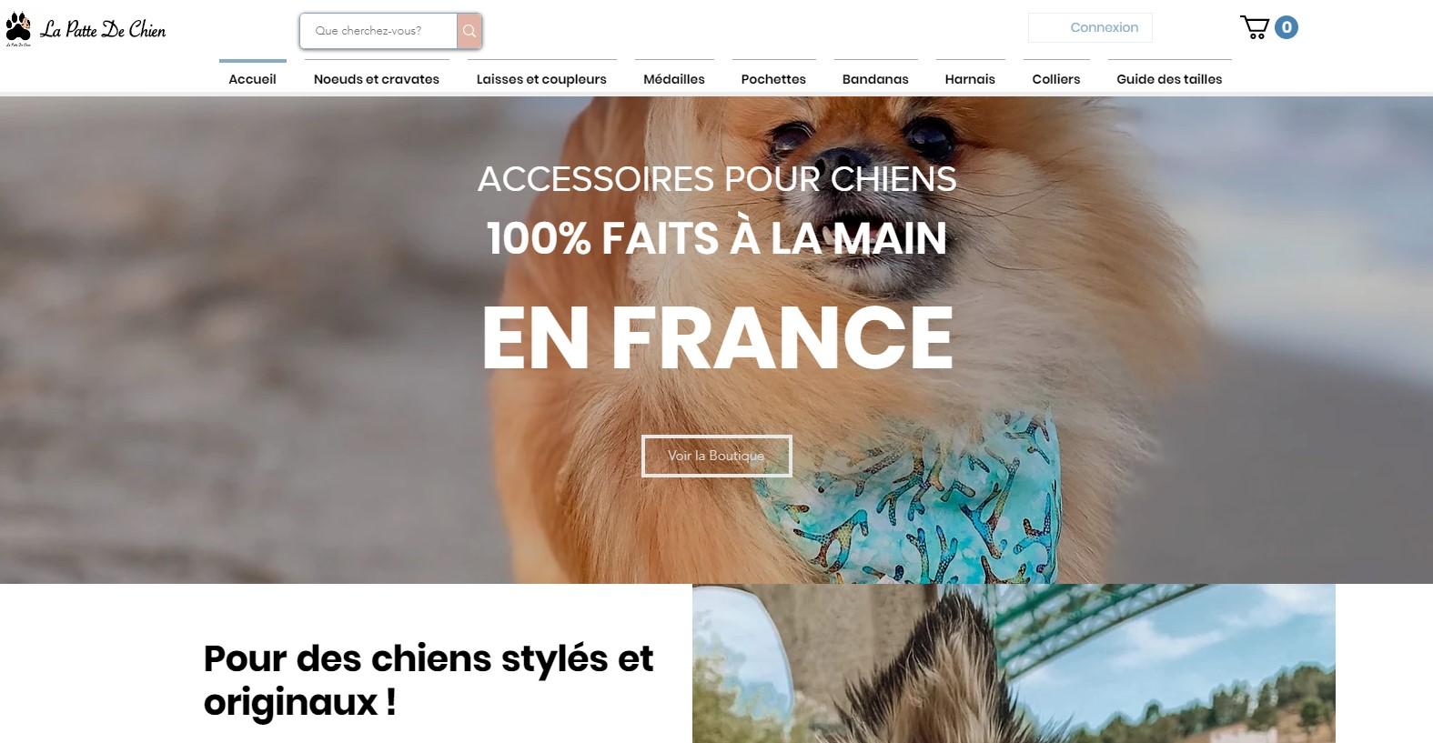 Artisan créateur accessoires pour chiens La Patte de Chien