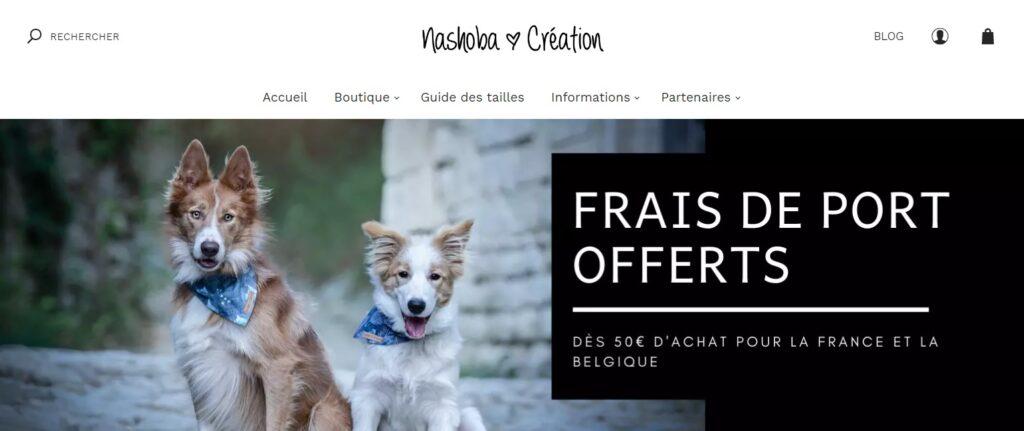 Artisan créateur accessoires pour chiens Nashoba Création