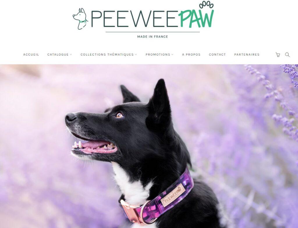 Artisan créateur accessoires pour chiens PeeWeePaw