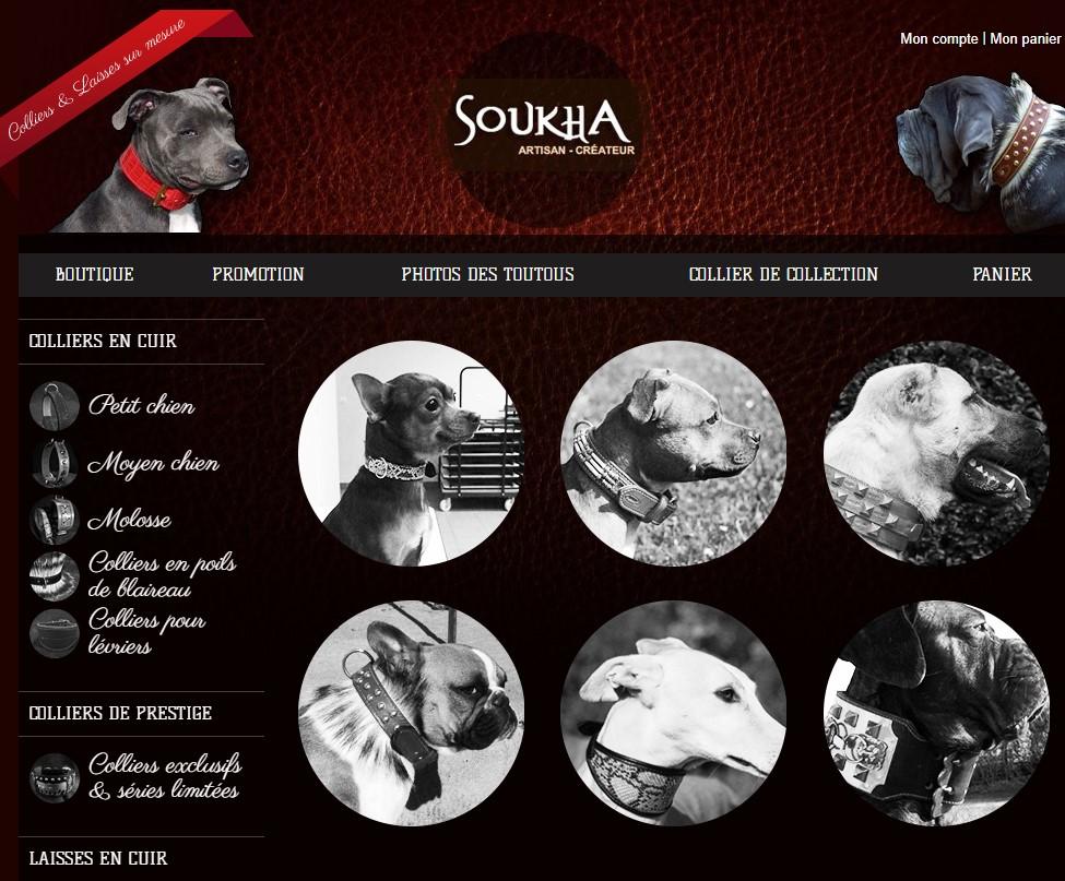 Artisan créateur accessoires pour chiens Soukha