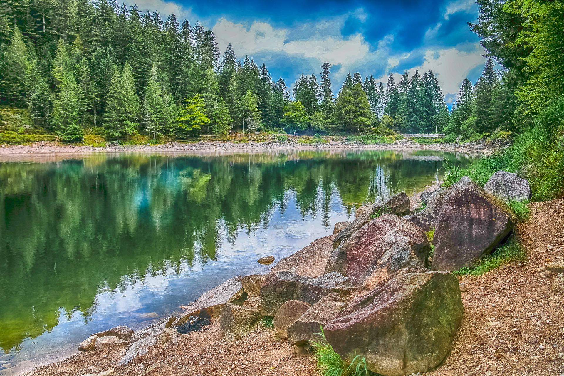 Lac Canadien ? Non, lac Vosgien.